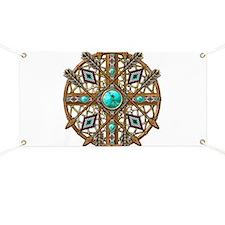 Beads and Arrows Mandala Banner