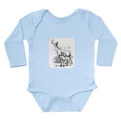 Deer Family Long Sleeve Infant Bodysuit