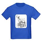 Deer Family Kids Dark T-Shirt