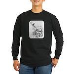 Deer Family Long Sleeve Dark T-Shirt
