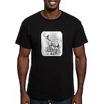 Deer Family Men's Fitted T-Shirt (dark)