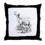 Deer Family Throw Pillow