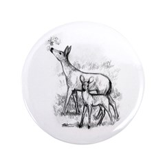 """Deer Family 3.5"""" Button (100 pack)"""
