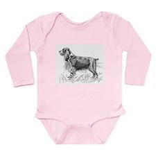 English Springer Spaniel Long Sleeve Infant Bodysu