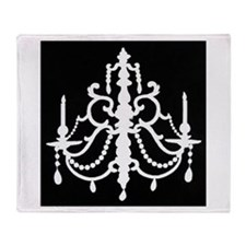 CHANDELIER SILHOUETTE Throw Blanket
