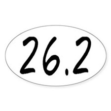 Marathoner's Oval Decal