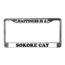 Happiness Is A Sokoke Cat License Plate Frame