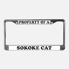 Property Of A Sokoke License Plate Frame