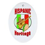 Hispanic Heritage Oval Ornament