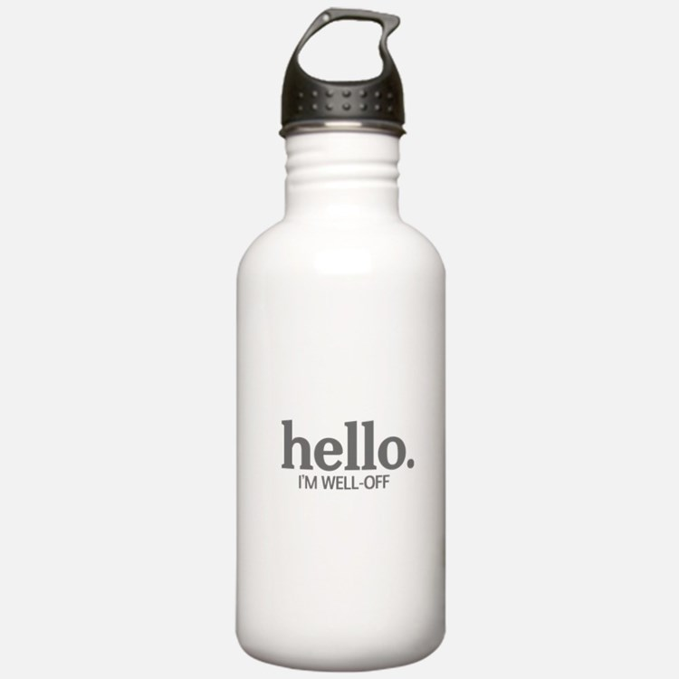 Hello I'm well-off Water Bottle