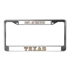 Texas 100% Authentic License Plate Frame