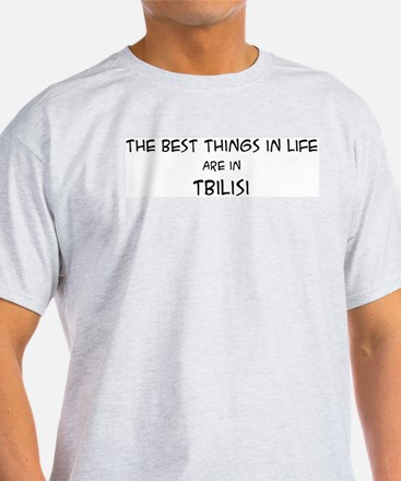 Best Things in Life: Tbilisi Ash Grey T-Shirt