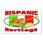 Hispanic Heritage Rectangle Sticker