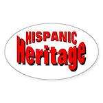 Hispanic Heritage Oval Sticker