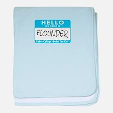 AH: Flounder baby blanket