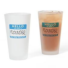 AH: Flounder Drinking Glass