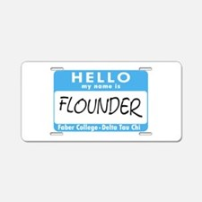 AH: Flounder Aluminum License Plate
