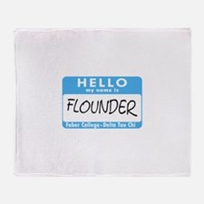 AH: Flounder Throw Blanket