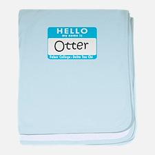 AH: Otter baby blanket
