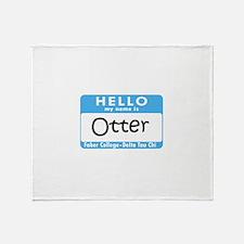 AH: Otter Throw Blanket