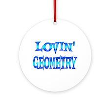 Geometry Love Ornament (Round)