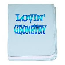 Geometry Love baby blanket