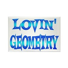 Geometry Love Rectangle Magnet
