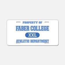 AH: Faber Aluminum License Plate