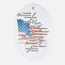 US Pledge - Ornament (Oval)