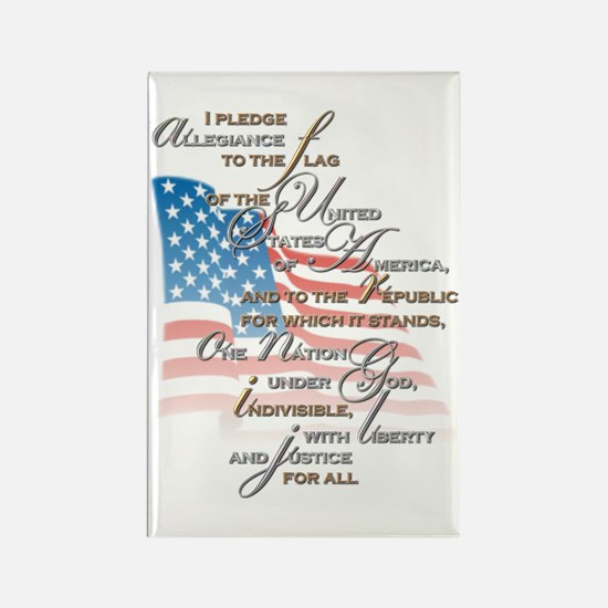 US Pledge - Rectangle Magnet