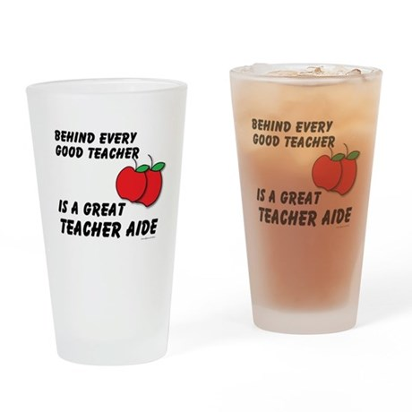 Great Teacher Aide Drinking Glass
