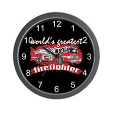 Worlds Greatest Firefighter Wall Clock