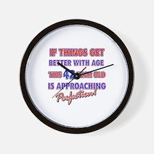 Funny 42nd Birthdy designs Wall Clock
