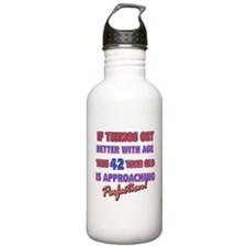 Funny 42nd Birthdy designs Water Bottle