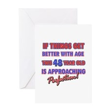 Funny 48th Birthdy designs Greeting Card