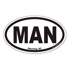 Manning South Carolina MAN Euro Oval Decal