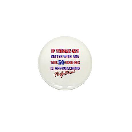 Funny 50th Birthdy designs Mini Button (10 pack)