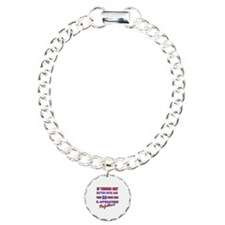 Funny 50th Birthdy designs Charm Bracelet, One Cha