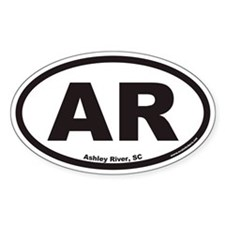 Ashley River South Carolina AR Euro Oval Decal