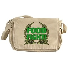 AH: Food Fight! Canvas Messenger Bag