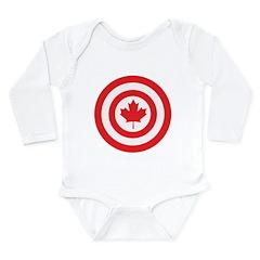 Captain Canada Long Sleeve Infant Bodysuit