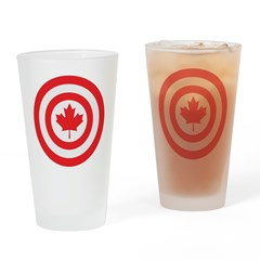 Captain Canada Drinking Glass