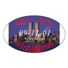 911 10 year anniversary Decal
