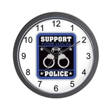 Support Your Local Police Wall Clock