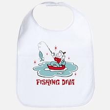 Retro Fishing Diva Bib