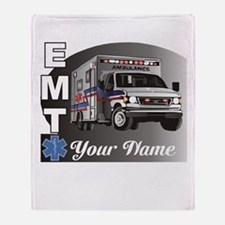 Custom Personalized EMT Throw Blanket