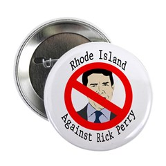 Rhode Island Against Rick Perry button