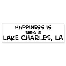 Happiness is Lake Charles Bumper Bumper Sticker