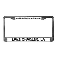 Happiness is Lake Charles License Plate Frame