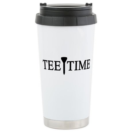 'Tee Time' Stainless Steel Travel Mug